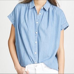 Madewell Central Chambray Roberta Indigo Shirt